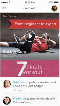 aplicación de entrenamiento personal
