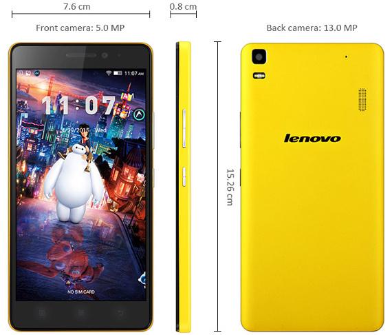 Tamaño del Lenovo K3 Note