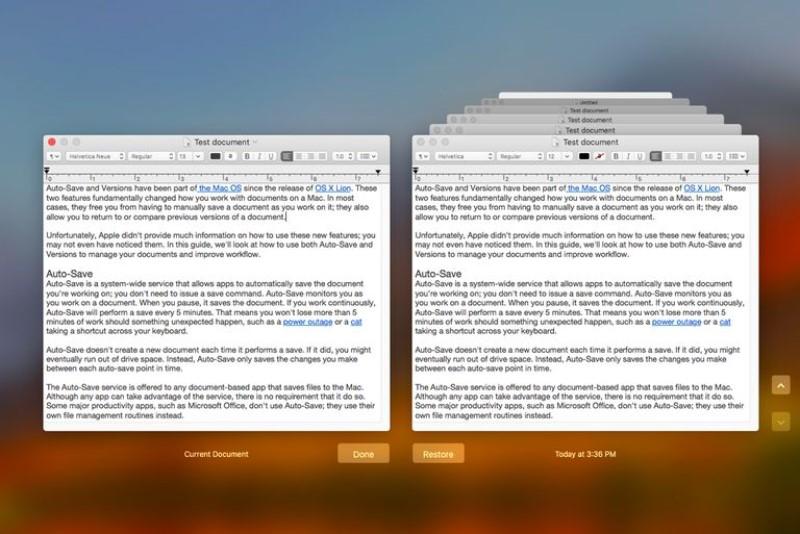 Auto-Restore de Mac