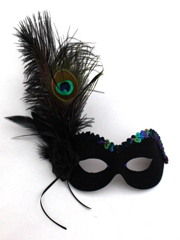 Women S Unique Peacock Amp Black Masquerade Eye Mask