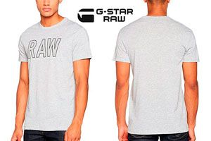 Camiseta G-Star Raw barata amazon, chollos ropa de marca barata amazon, ofertas moda amazon
