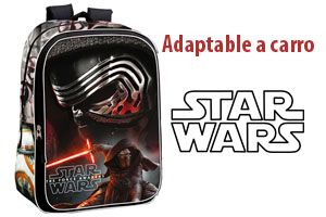 Oferta mochila Star Wars Android barata adaptable a carro barata