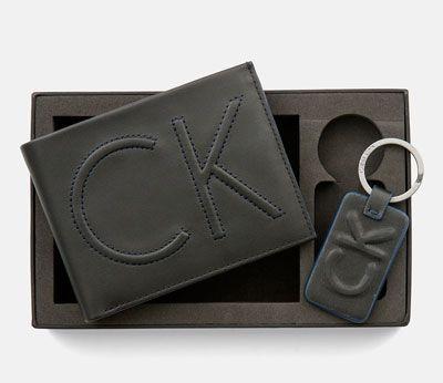oferta llavero y cartera de piel Calvin Klein barato