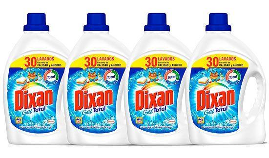 Oferta pack de 4 detergentes Dixan Gel 30 lavados baratos amazon