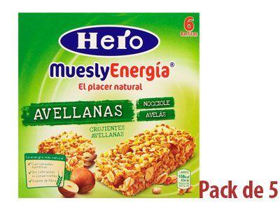 Barritas Hero Muesly Energía Avellanas
