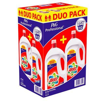 Oferta detergente Ariel Basico líquido pack de 112 dosis barato amazon