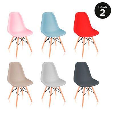 Oferta pack de 2 sillas de cocina o comedor McHaus por solo 25,99 euros.