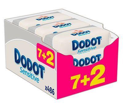 Oferta pack de 486 toallitas Dodot Sensitive baratas amazon