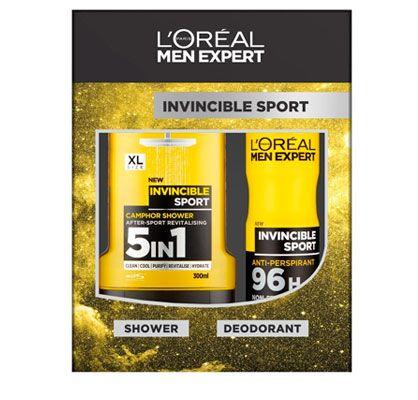 Oferta L'Oreal Men Expert Invincible Power gel de ducha y desodorante barato amazon