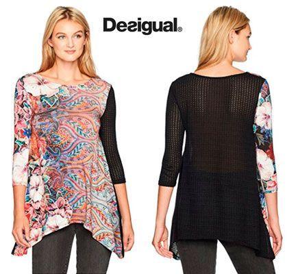 Oferta camiseta Desigual Picos Freya barata amazon