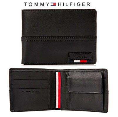 Oferta cartera Tommy Hilfiger Branded Leather Extra barata amazon, ofertas moda