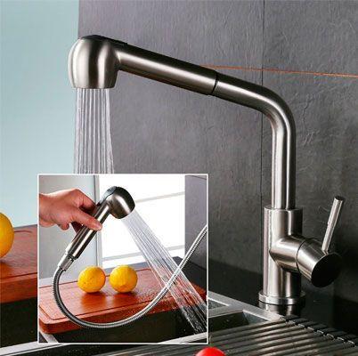 Oferta grifo de cocina con manguera extraible Homelody MJMSK102