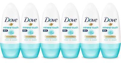 Oferta pack 6 desodorantes Dove Mineral Touch Desodorante Roll On baratos amazon
