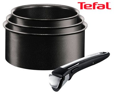 Oferta set de 3 cazos Tefal Ingenio baratas amazon