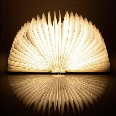 lámpara libro Lixada