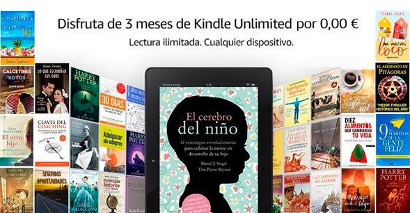 Oferta 3 meses de Kindle Unlimited gratis