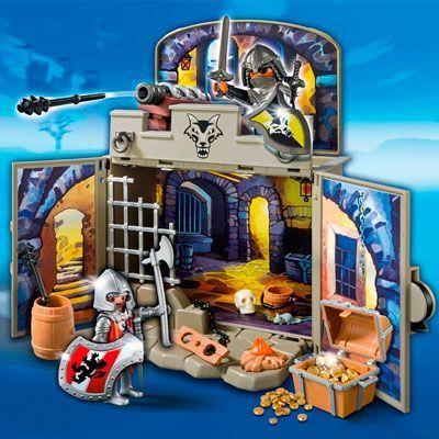 Oferta cofre Playmobil caballeros del tesoro barato