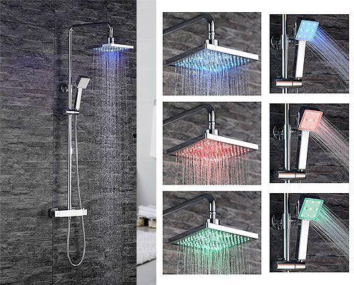 Oferta columna de ducha Homelody LED termostática barata con código de descuento