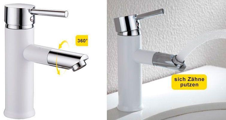 Oferta grifo de lavabo Homelody Boca 360 blanco barato amazon
