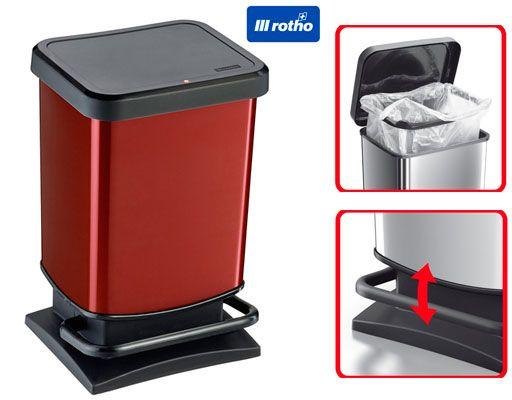 Oferta cubo de basura Rotho Paso 20 litros barato amazon