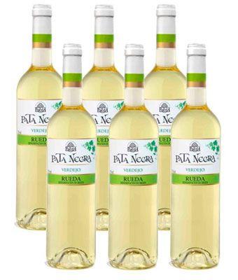 Ofeta pack 6 botellas Pata Negra vino blanco verdejo D.O. Rueda barato amazon
