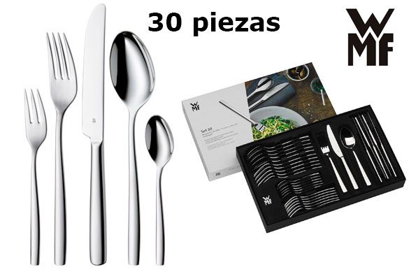 Oferta cubertería WMF Palma 30 piezas barata amazon