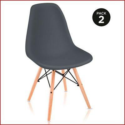 Oferta pack de 2 sillas de cocina o comedor estilo nórdico