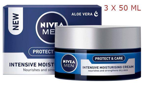 Oferta pack de 3 Nivea Crema Nutritiva Intensiva Protege & Cuida barata amazon