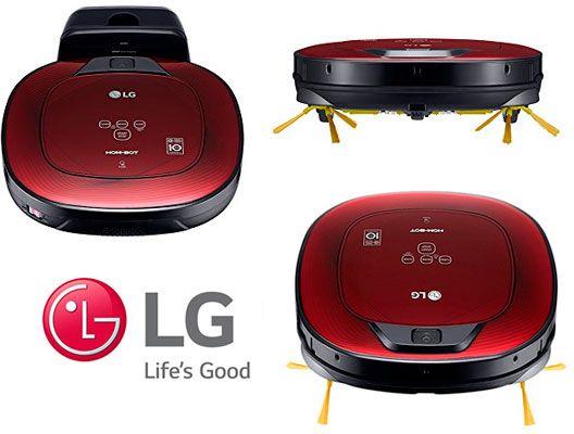 Oferta robot aspirador LG VR8602RR Hombot Square Turbo Serie 9 barato amazon
