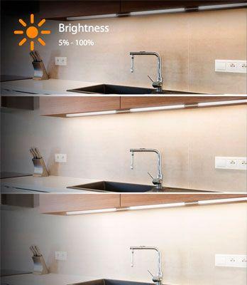 Oferta luces de Led de gabinete intensidad regulable intensidad regulable baratas amazon