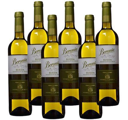 Oferta pack de 6 botellas vino blanco Beronia Verdejo barato amazon