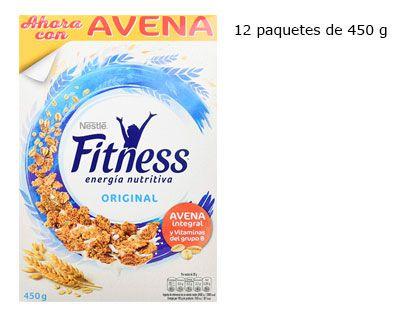 Oferta 12 paquetes de cereales Nestlé Fitness Original baratos amazon
