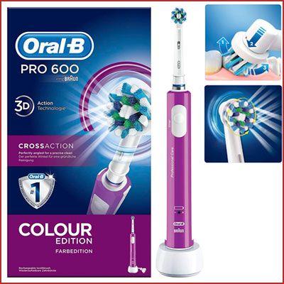 Oferta Oral-B Pro 600 CrossAction morado barato