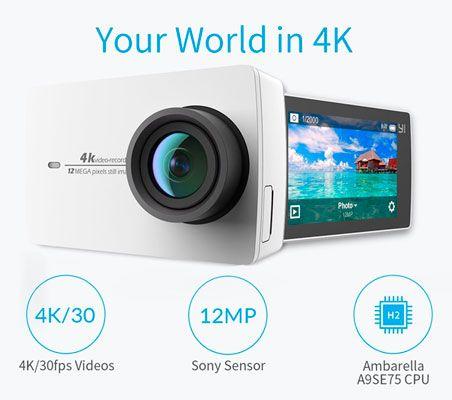 Oferta cámara de acción YI 4K barata amazon