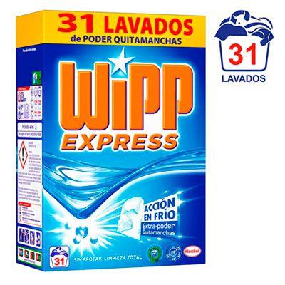 Oferta detergente WiPP Express polvo 31 lavados barato amazon