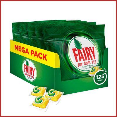 Oferta detergente lavavajillas Fairy Original All in One Limón barato