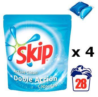 Oferta detergente en cápsulas Skip Active Clean barato