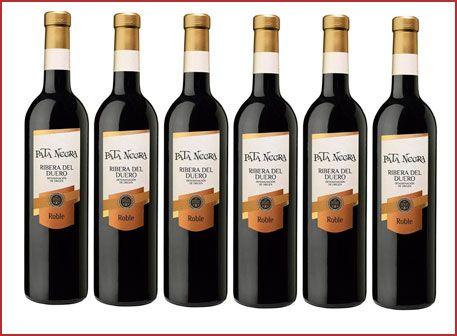 Oferta 5 botellas Pata Negra Roble Ribera del Duero barato