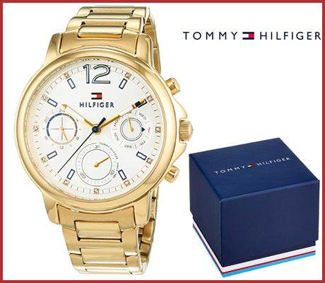Oferta reloj de mujer Tommy Hilfiger chapado en oro