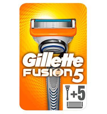 Oferta pack de maquinilla con 5 recambios Gillette Fusion barata