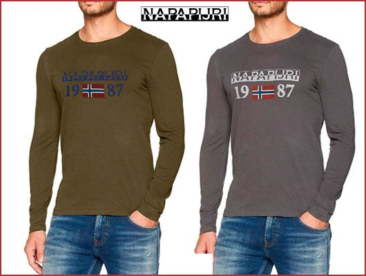 Oferta Camiseta Napapijri Solin barata, chollos ropa de marca barata