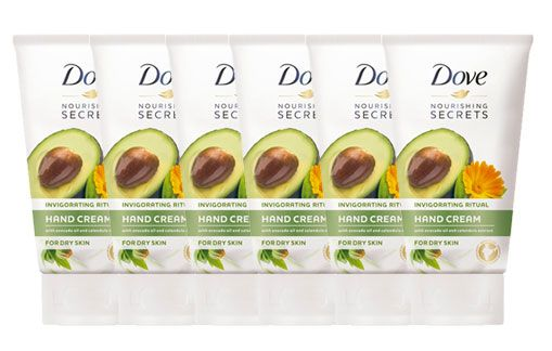 Oferta pack de 6 crema de manos Dove Aceite de Aguacate