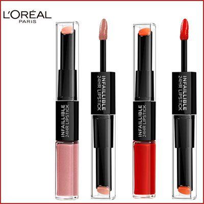 Oferta pack de 2 barra de labios L'Oreal Paris Make-Up Infalible 24h baratas