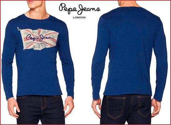 Oferta camiseta Pepe Jeans Flag Tee barata amazon, ofertas moda