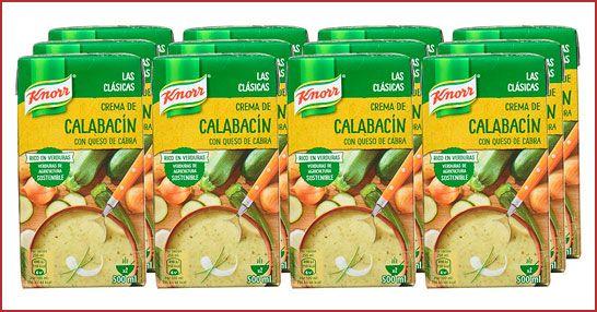 Oferta pack de 12 crema Knorr Las Clásicas Crema de Calabacín con Queso de Cabra baratas