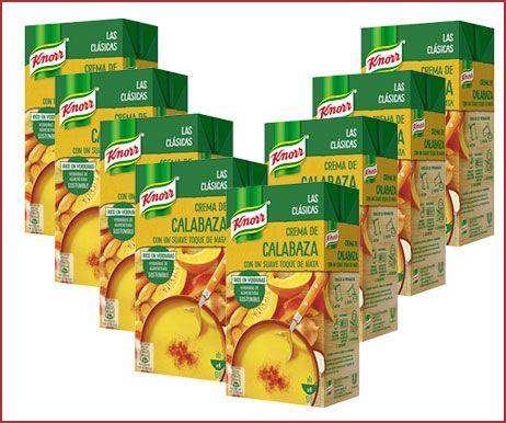 Oferta pack de 8 Knorr Las Clásicas crema de calabaza