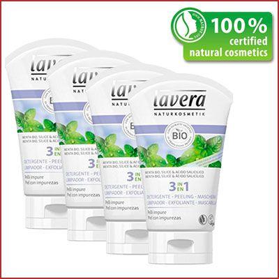 Oferta Lavera Gel 3 en 1 limpiador exfoliante y mascarilla