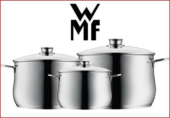 Oferta batería de cocina WMF Diadem Plus 3 piezas barata