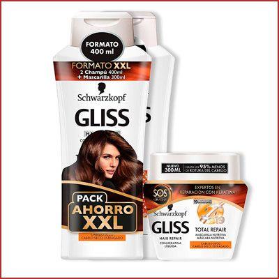 Oferta pack Gliss Total repair champu y mascarilla barato