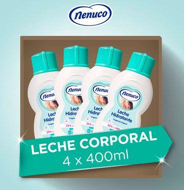 Oferta pack de 4 leche hidratante Nenuco